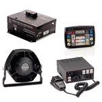 Sirènes, claviers de contrôles et haut-parleurs