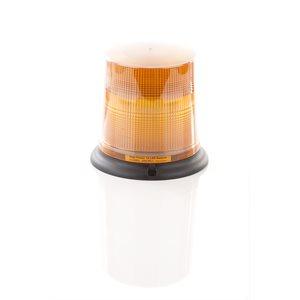 Beacon Ambre 12 DEL ProSignal avec lentille anti-poussière, montage permanent avec vis et fil nu
