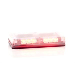 """Mini barre G6 ProSignal rouge 3 DEL """"Reflector"""" avec dôme clair, montage Permanent et Fils nus"""
