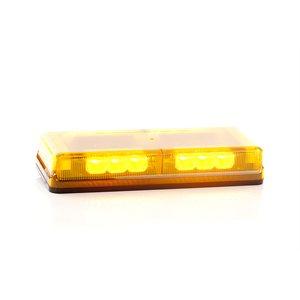 """Mini barre G6 ProSignal 3 DEL Ambre """"REFLECTOR"""" avec dôme Ambre, montage magnétique et prise briquet"""